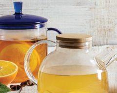 Chá de frutos vermelhos com laranja