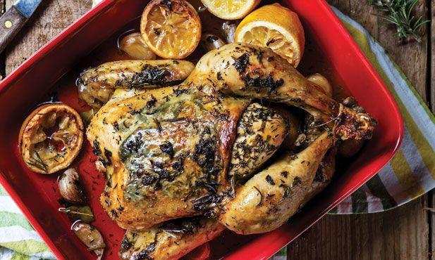 2ª feira: frango no forno com limão