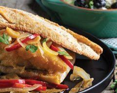 Filete de bacalhau no pão