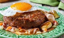 Hambúrguer Portugal no prato
