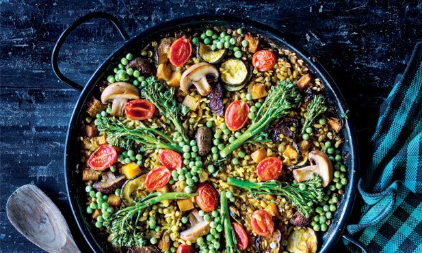 Paella de legumes