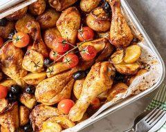 Frango no forno com batatas