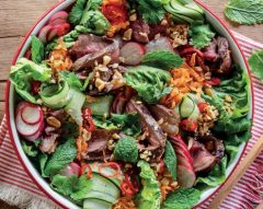 Saladas frescas e deliciosas