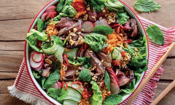 Salada de picanha à asiática