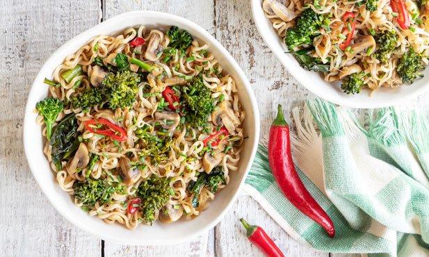 Noodles com bimis