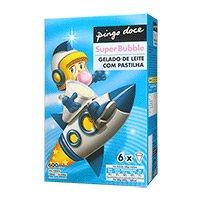 Gelado Super Bubble Pingo Doce  6X100Ml