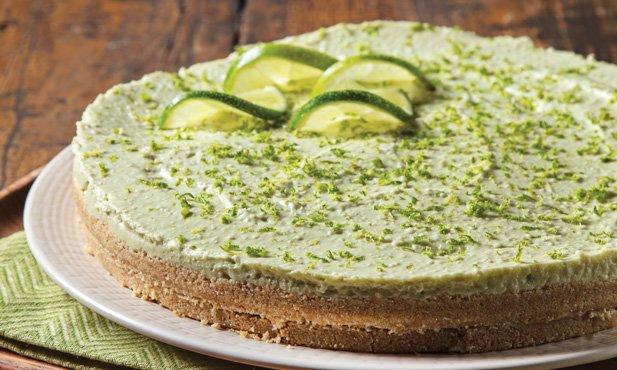 Cheesecake de lima e abacate