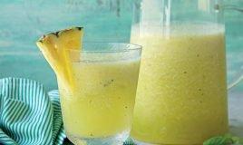 Granizado de melão e abacaxi