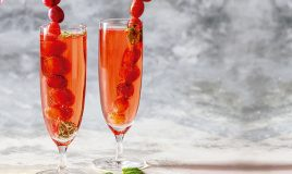 Cocktail de espumante rosé