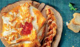 Folhado de queijo Camembert com doce
