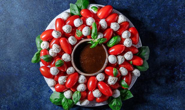 Tomate e mozzarella