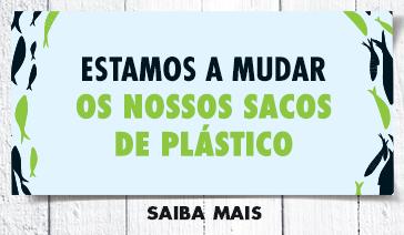 Estamos a mudar os nossos sacos de plástico