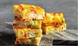 Frittata de pimentos e queijo