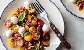 Salada de tomate com mozzarella