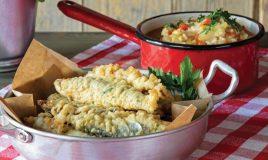 Sardinhas albardadas com arroz de...