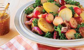 Salada de batata com molho vinagrete