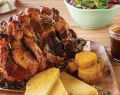 Costeletas de porco no forno