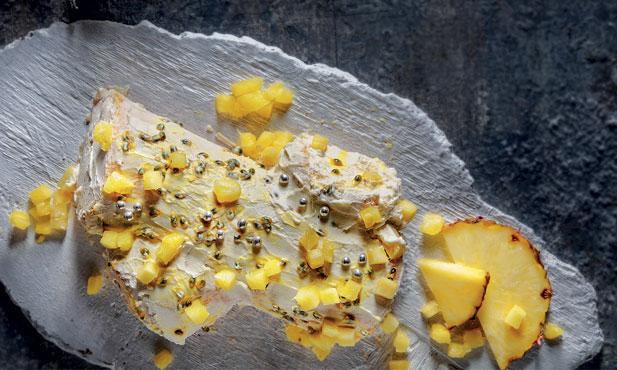 Tronco de ananás e maracujá