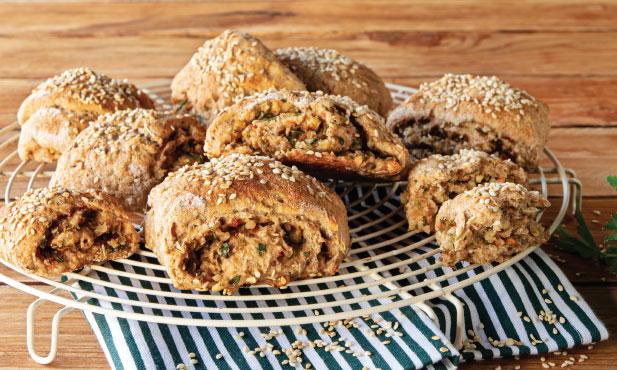 Pão de espelta com azeitonas