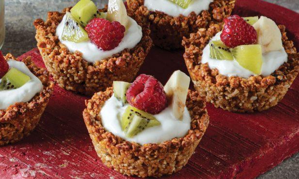 Mini-tartes de granola