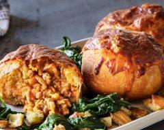 Pão da avó recheado com carne e legumes