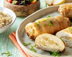 Rolinhos de frango recheados