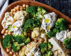 Salada de legumes assados