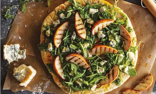 Pizza com peras e gorgonzola