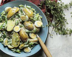Salada de batata com feijão-verde
