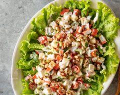Salada do mar com maçã e maionese