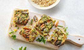 Omelete no forno com legumes
