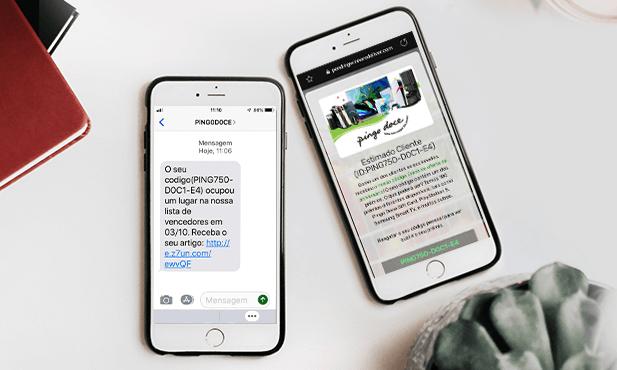 Aviso: Campanha Fraudulenta de SMS