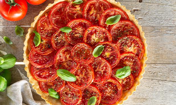 Tarte de tomate com cebola
