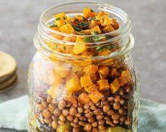 Salada de lentilhas com legumes