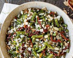 Salada morna de feijão-verde