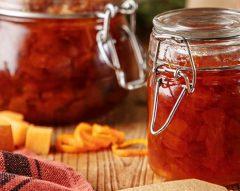 Doce de laranja e abóbora com rum