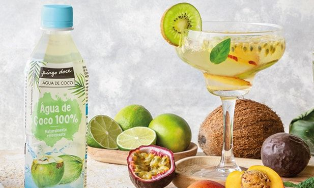 Água aromatizada com fruta