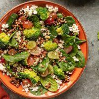 Bowl de brócolos e requeijão
