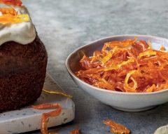 Fios de cenoura caramelizados