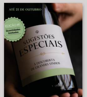 Sugestões Especiais de Vinhos