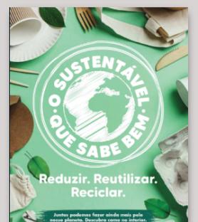 O sustentável que sabe bem | Reduzir. Reutilizar. Reciclar.