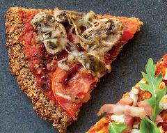 Base de pizza de quinoa