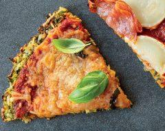Base de pizza de talos de couve-flor