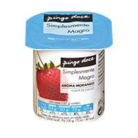 Iogurte Magro Aroma Pingo Doce  125G, Morango