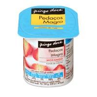 Iogurte Magro Pedacos Pingo Doce  125G, Morango