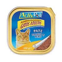 Paté Frango E Perú Para Gatos Adultos Activpet 100G