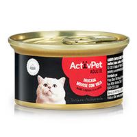 Mousse Carne De Vaca Premium Para Gato Activpet 85G