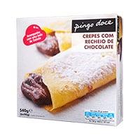 Crepes Recheados Com Chocolate Pingo Doce 6 Unidades 540G