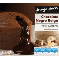 Petit Gâteau Chocolate Negro Pingo Doce 4X80G