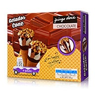Gel Cones Pingo Doce Chocolate 6X120Ml